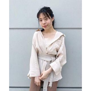 Kastane - 今期完売 新品タグ付き Kastane シアーBIGシャツ ライトベージュ