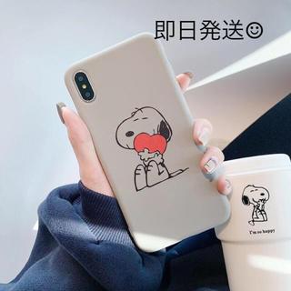 スヌーピー(SNOOPY)のスヌーピー♡ レトロで可愛いiPhoneケース グレー(iPhoneケース)