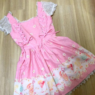 LIZ LISA - リズリサ ジュース柄 ピンク ワンピース