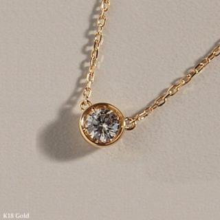 AHKAH - k18 一粒ダイヤ ネックレス 18金 ✨ ダイヤモンド