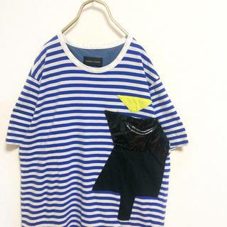 ツモリチサト(TSUMORI CHISATO)の【廃盤】ツモリチサト デザイン ボーダー Tシャツ メンズ 2 古着 M(Tシャツ/カットソー(半袖/袖なし))