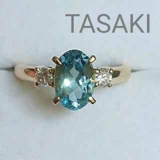 TASAKI - TASAKI アクアマリン ダイヤモンド リング K18 タサキ 田崎真珠