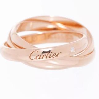 カルティエ(Cartier)の三連リングカルティエ指輪 ゴールド750ダイヤ#50(リング(指輪))