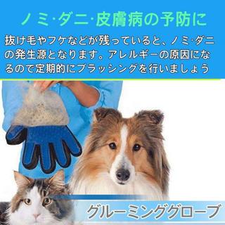 【送料込み★】犬猫用グルーミンググローブ 毛玉や抜け毛対策に☆(犬)