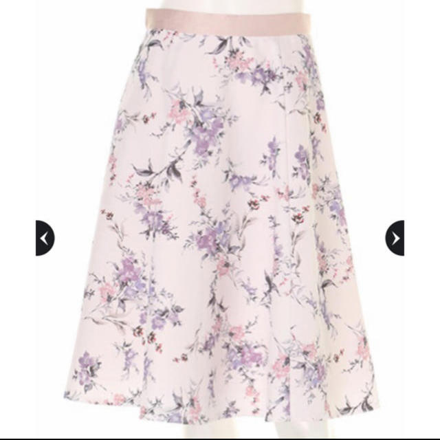 Apuweiser-riche(アプワイザーリッシェ)のレディフラワープリントスカート レディースのスカート(ひざ丈スカート)の商品写真