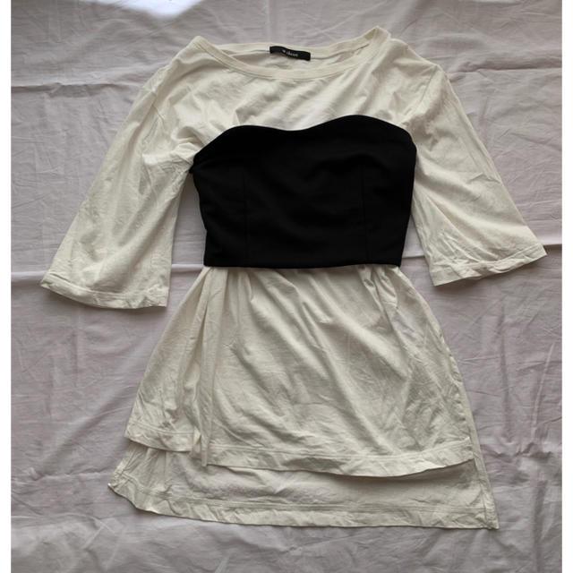 w closet(ダブルクローゼット)のwcloset ビスチェ tシャツ セット レディースのトップス(その他)の商品写真