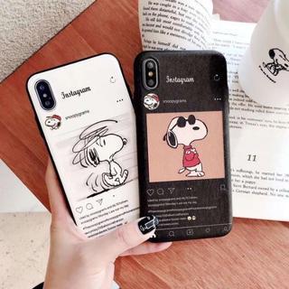 スヌーピー(SNOOPY)のスヌーピー インスタグラム風 iphoneケース (iPhoneケース)