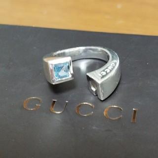グッチ(Gucci)の[正規品] GUCCI ブルートパーズ リング 10~11号 指輪  鏡面研磨済(リング(指輪))