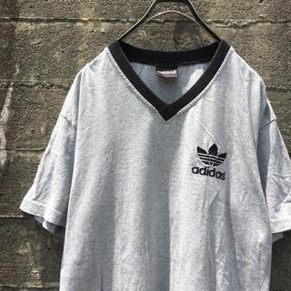 adidas - 90's adidas 両面ロゴ Tシャツ 刺繍ロゴ