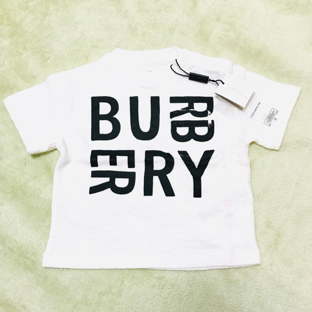BURBERRY(バーバリー)の現行品 新品 タグ付き BURBERRY ベビー ロゴ Tシャツ 12m 18m キッズ/ベビー/マタニティのベビー服(~85cm)(Tシャツ)の商品写真