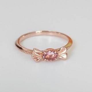 キューポット(Q-pot.)のQ-pot プチストロベリーキャンディーリング(K10-Pink Gold)(リング(指輪))