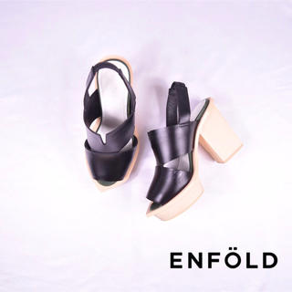 ENFOLD - ENFOLD エンフォルド  変形ソール サンダル