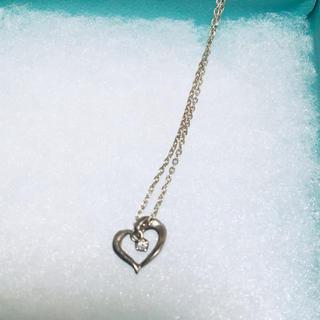 4℃ - 4℃ ハート型ネックレス Silver