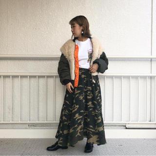 ローズバッド(ROSE BUD)のROSE BUD CREOLME カモフラスカート(ロングスカート)