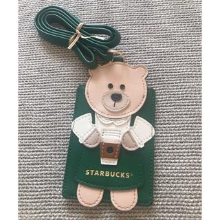 スターバックスコーヒー(Starbucks Coffee)のタイ スターバックス ベアリスタ カードケース ネームタグ(パスケース/IDカードホルダー)