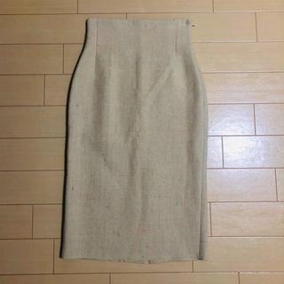 MADISONBLUE - マディソンブルーのベージュタイトスカート