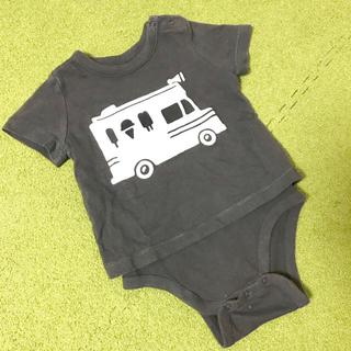 ギャップ(GAP)のGAP ロンパース 半袖 Tシャツ チャコール(Tシャツ)