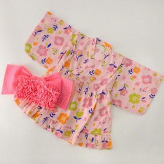 アンパサンド(ampersand)の新品 アンパサンド 110cm 浴衣 甚平 着物 女の子 キッズ 子供 帯(甚平/浴衣)