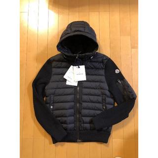 MONCLER - 【新品未使用】正規品 モンクレール直営店購入 ダウン ニット ブラック Lサイズ