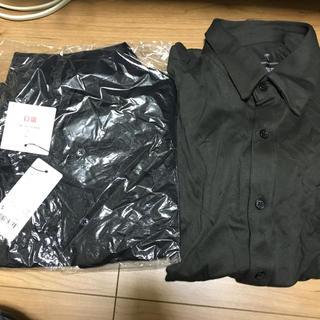 ユニクロ(UNIQLO)のユニクロ トーマスマイヤー エアリズムフルオープンポロシャツ ダークグリーン 黒(シャツ)