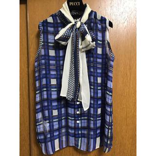 sacai - sacaiサカイ♡リボン変形チェックシャツ8/10削除