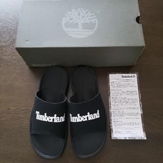 Timberland - 【新品】Timberland ロゴサンダル 25cm 黒