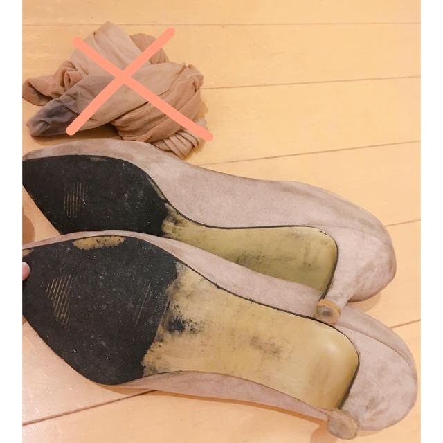 PRIMA スエード調 パンプス 24cm程度  レディースの靴/シューズ(ハイヒール/パンプス)の商品写真