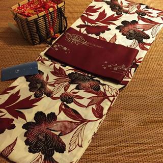 浴衣 ベージュ■新品!麻混 大人カラー 仕立て上がり 浴衣単品 変わり織