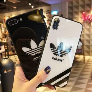 iphone ケース ADIDAS アディダス 強化ガラス素材
