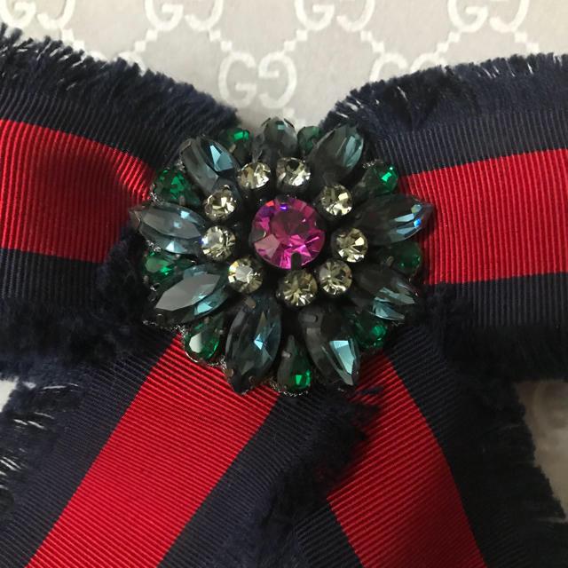 Gucci(グッチ)のGUCCI コスチュームジュエリーブローチ 美品 レディースのアクセサリー(ブローチ/コサージュ)の商品写真