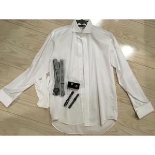 新郎♡ウィングカラーシャツ&サスペンダー&アームバンド&手袋&カフスボタン(サスペンダー)