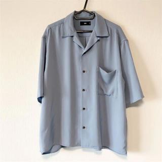 ハレ(HARE)のHARE ハレ オープンカラーシャツ ブルー S(シャツ)