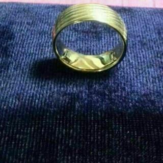 ラブリング お値下げ!STM 316L ゴールドのリングサイズ17です(リング(指輪))