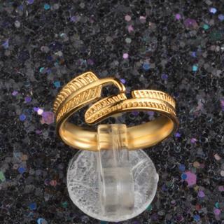 フェザーリング リング 指輪 メンズ 男 女 フェザー 羽 男女 ゴールド  (リング(指輪))