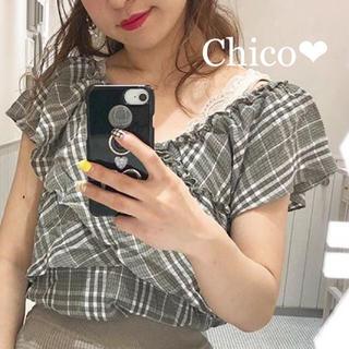 who's who Chico - 新品タグ付き❤︎オフショルフリルブラウス