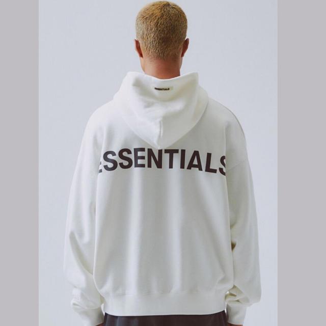 FEAR OF GOD(フィアオブゴッド)のfog essentials reflector logo hoodie  メンズのトップス(パーカー)の商品写真