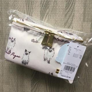 ジェラートピケ(gelato pique)のジェラートピケ 化粧ポーチ ネコ柄ポーチ 新品(ポーチ)