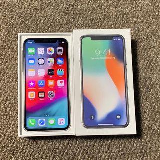 Apple - 【ラクマ最安】simフリー iPhoneX 256GB シルバー 電池100%