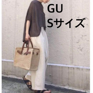GU - ジーユー リネンブレンドワイドパンツ