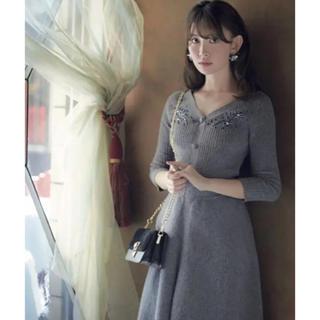 Rirandture - リランドチュール ♡ 刺繍フレアニットワンピース