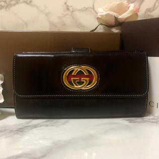 Gucci - GUCCI グッチ スーキー 財布 長財布 折り財布 茶
