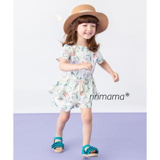 petit main - 今季 大人気 完売 petit main ボタニカルセットアップ【110】