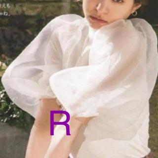 snidel - 新作❤シースルー ボリューム袖 トップス バルーンスリーブ ホワイト
