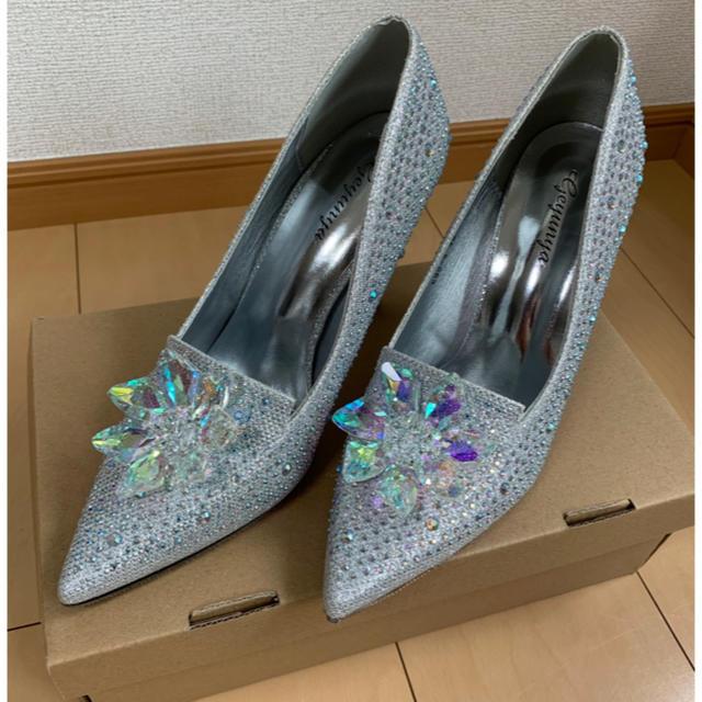 ウェディングパンプス シンデレラ ガラスの靴 レディースの靴/シューズ(ハイヒール/パンプス)の商品写真