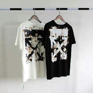 OFF-WHITE - OFF-WHITE ストライプロゴオーバーサイズTシャツ