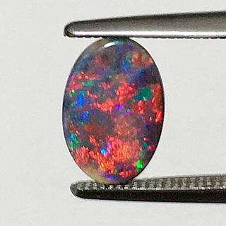 《宝石⚜️ルース》極美品✴️天然ブラックオパール  0.726ct  鑑別付(リング(指輪))