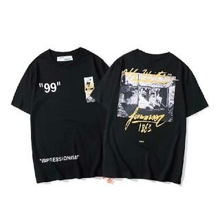OFF-WHITE - OFF WHITE Tシャツ 半袖 メンズ レディース M