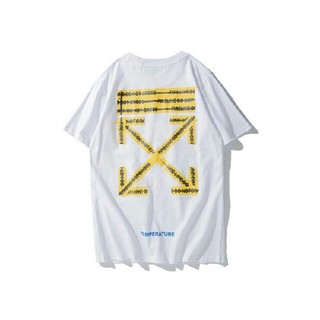 OFF-WHITE -  OFF WHITE Tシャツ 男女兼用 人気新品   56412