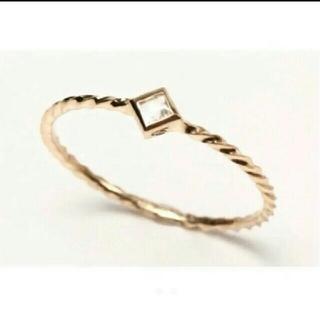 エナソルーナ(Enasoluna)のエナソルーナ スクエア リング 8号 イエローゴールド 指輪 華奢アクセ(リング(指輪))
