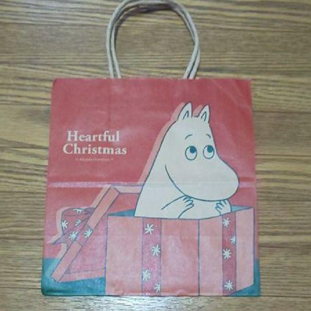 ムーミン クリスマス 紙袋 約22cm×23.5cm×12cm エンタメ/ホビーのおもちゃ/ぬいぐるみ(キャラクターグッズ)の商品写真